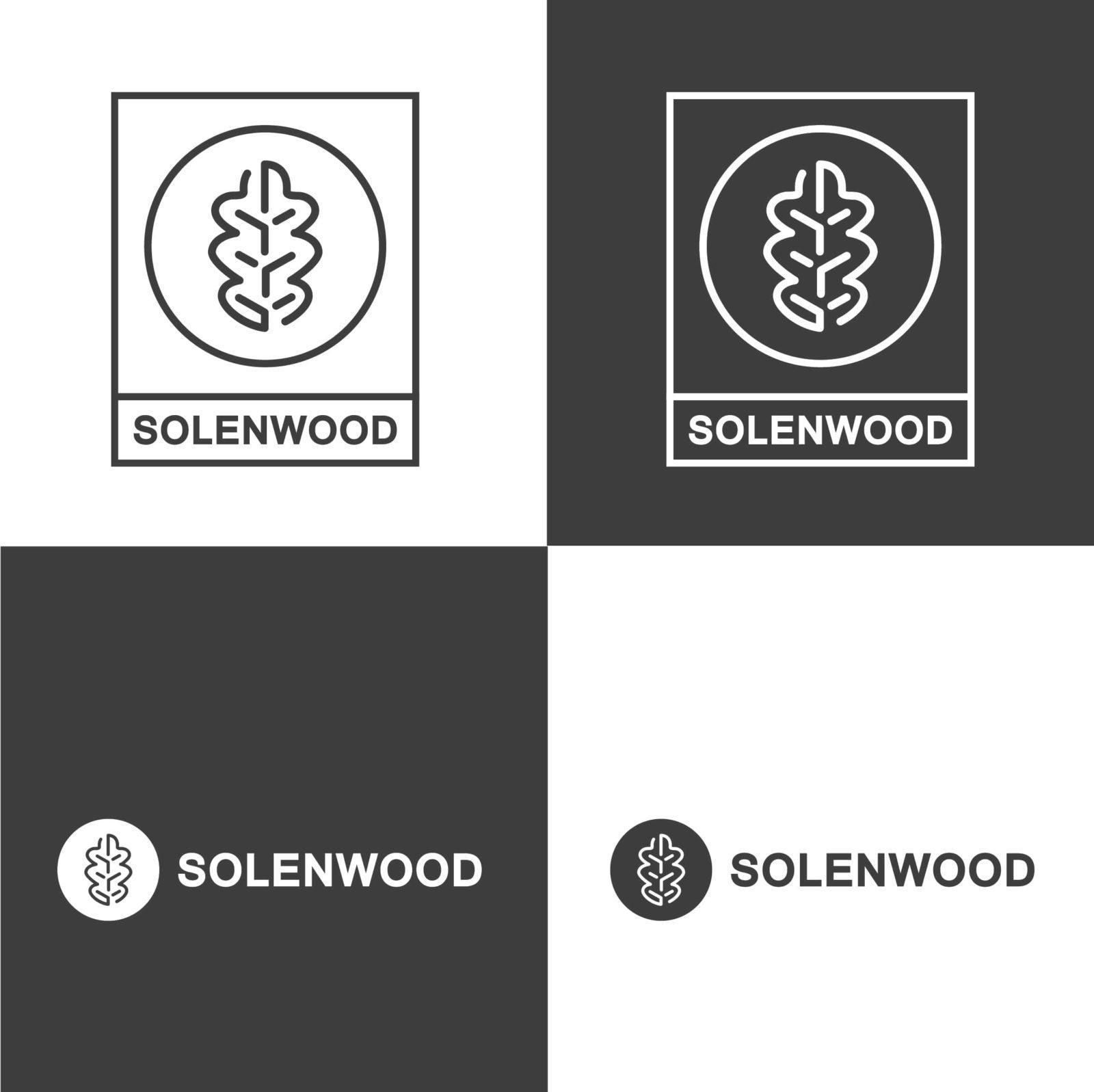 логотип в виде дубового листа