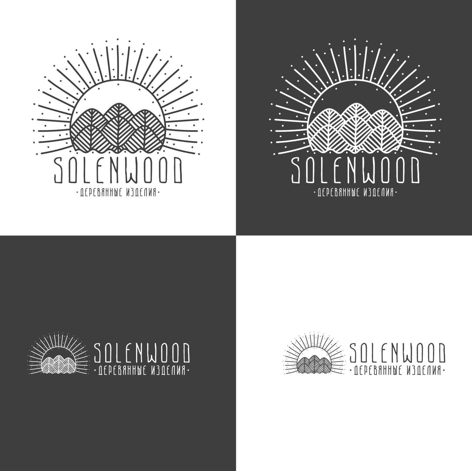 лого в виде леса