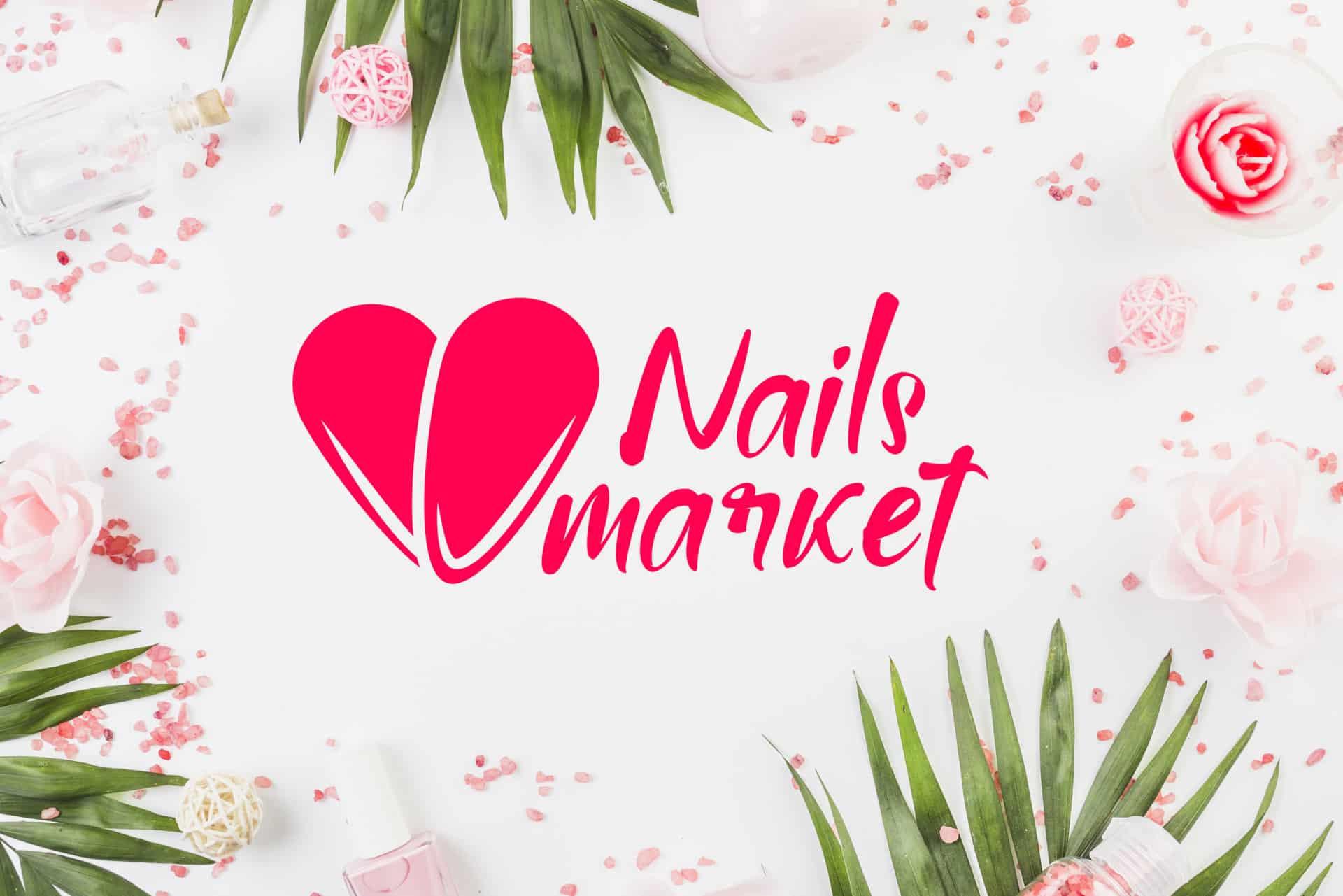 """Логотип интернет-магазина маникюрных инструментов и принадлежностей """"Market Nails"""" 12"""