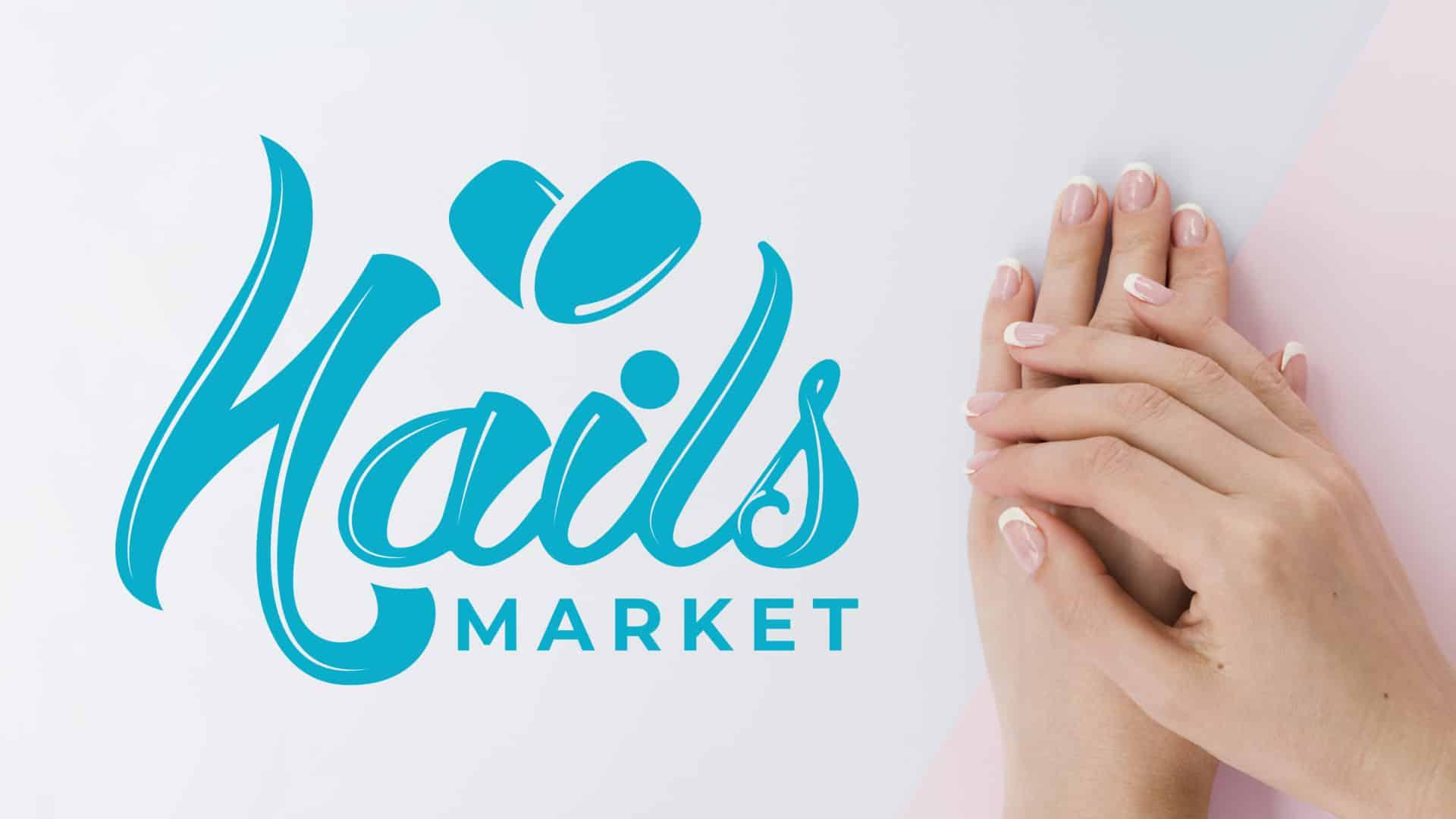 """Логотип интернет-магазина маникюрных инструментов и принадлежностей """"Market Nails"""" 10"""