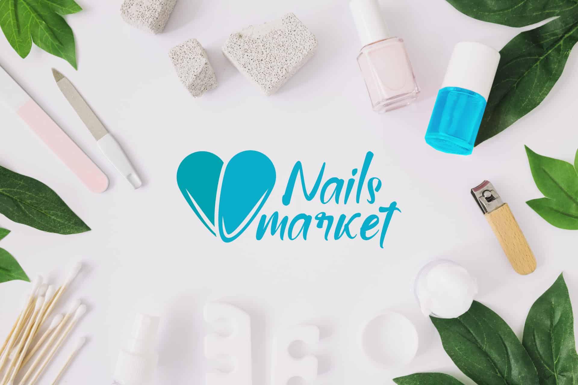 """Логотип интернет-магазина маникюрных инструментов и принадлежностей """"Market Nails"""" 4"""