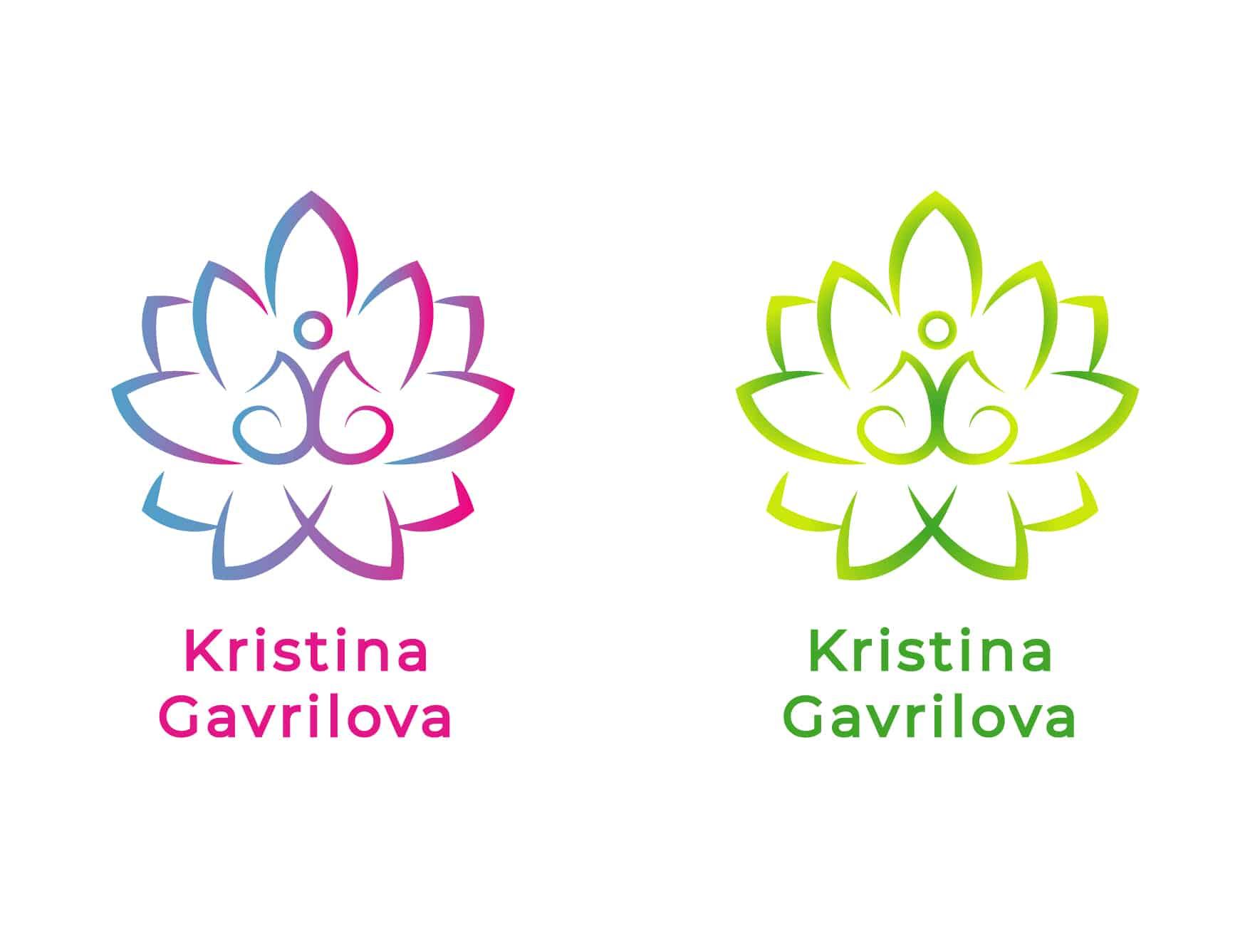 Логотип персонального тренера по йоге и фитнесу 12