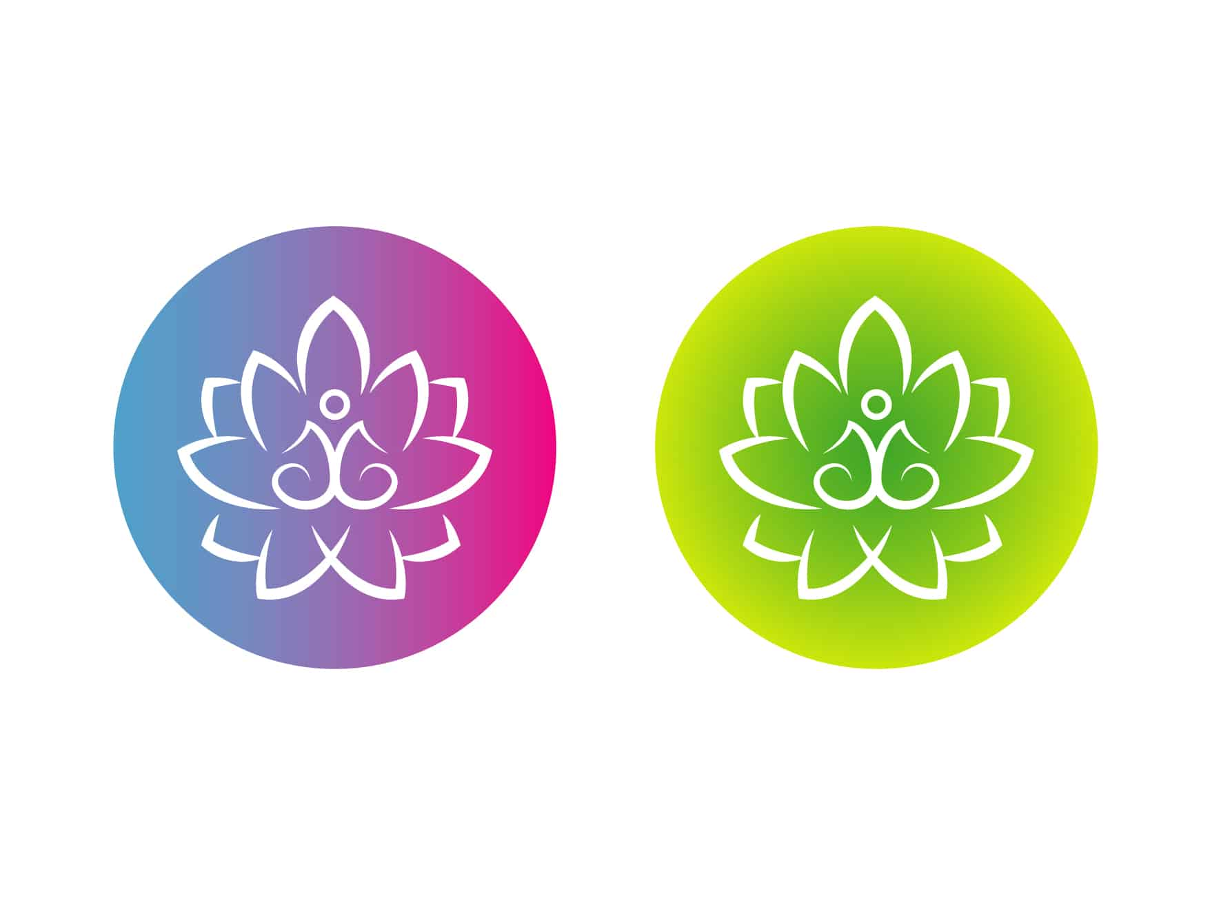 Логотип персонального тренера по йоге и фитнесу 14