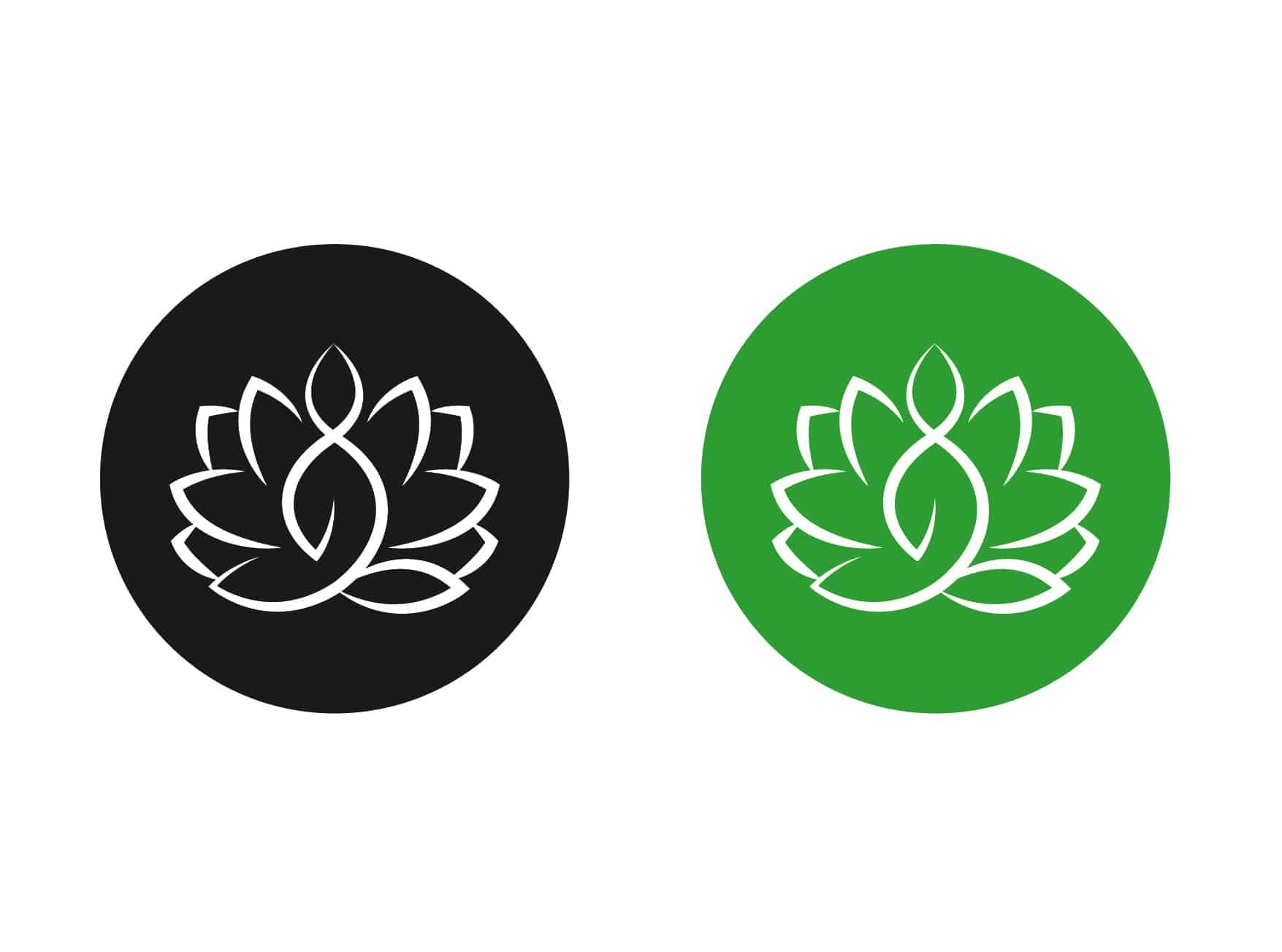 Логотип персонального тренера по йоге и фитнесу 8