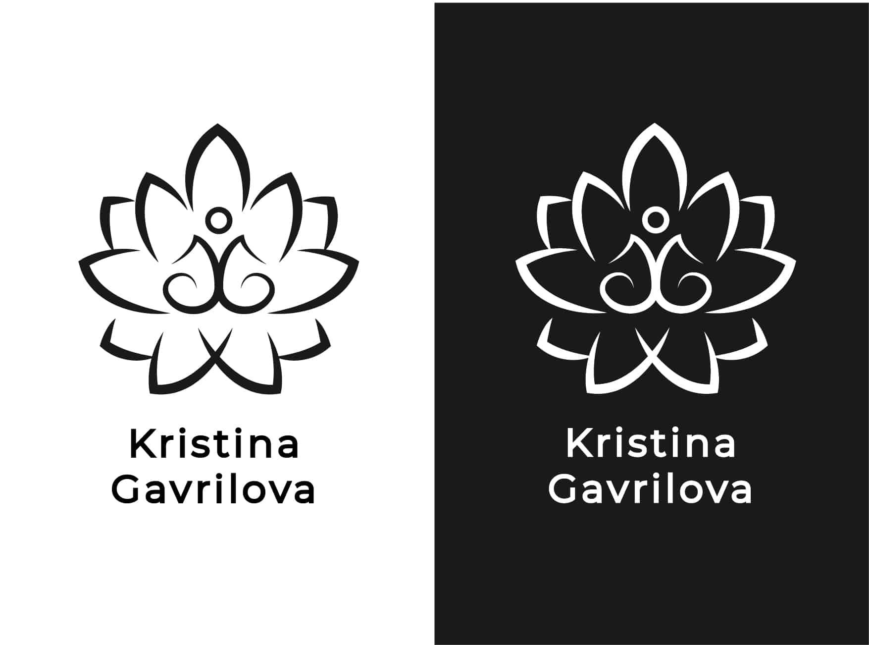 Логотип персонального тренера по йоге и фитнесу 10