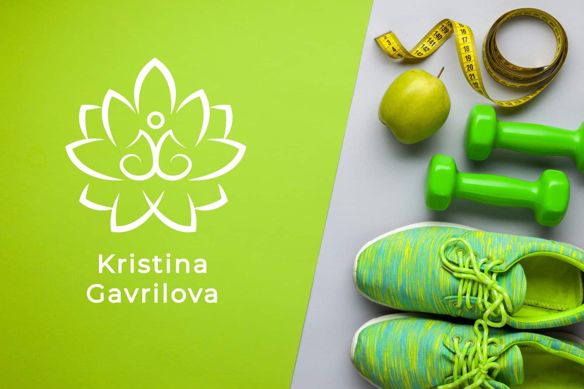 Логотип персонального тренера по йоге и фитнесу 17