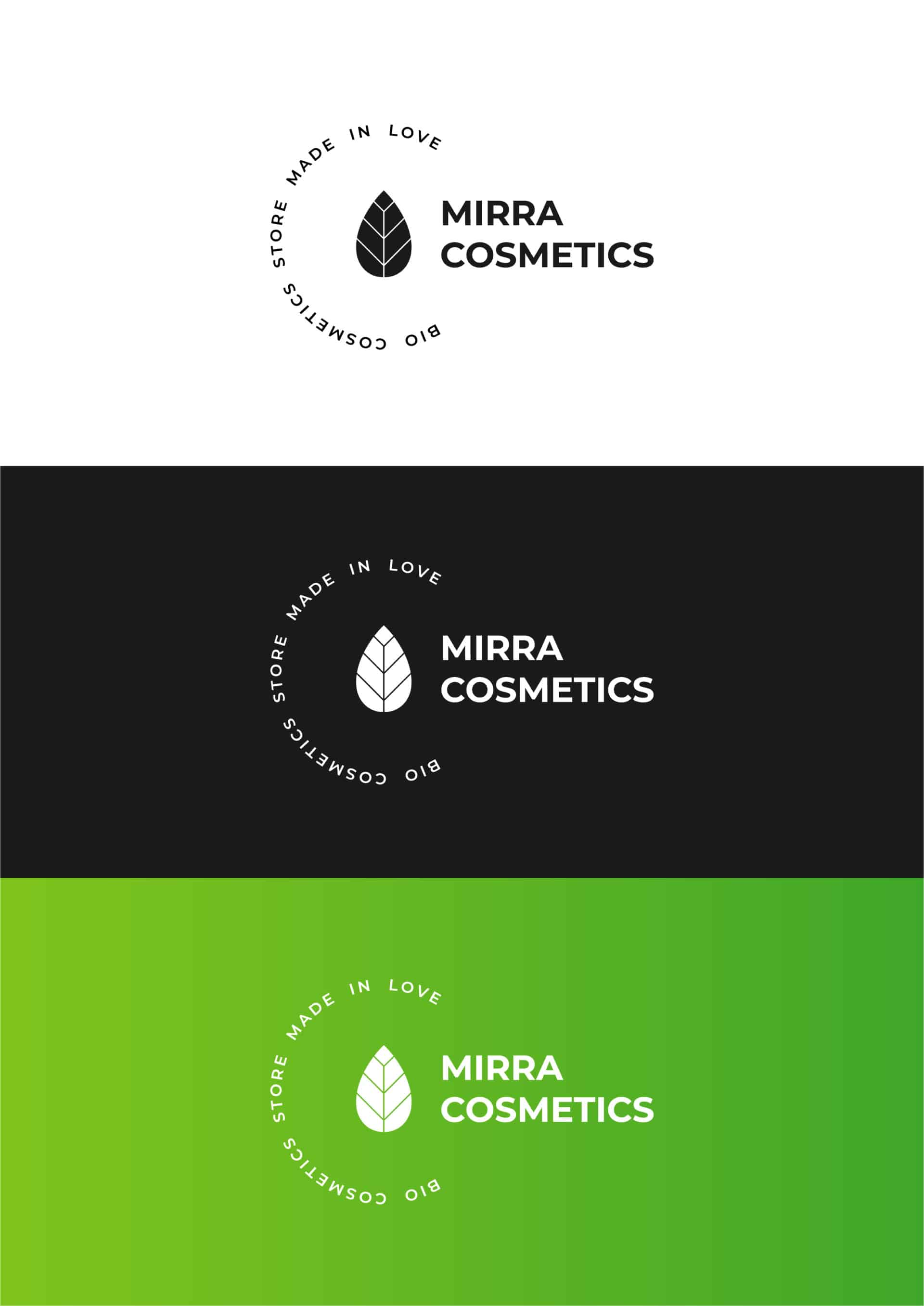 "Логотип косметической компании ""Mirra Cosmetics"" 8"