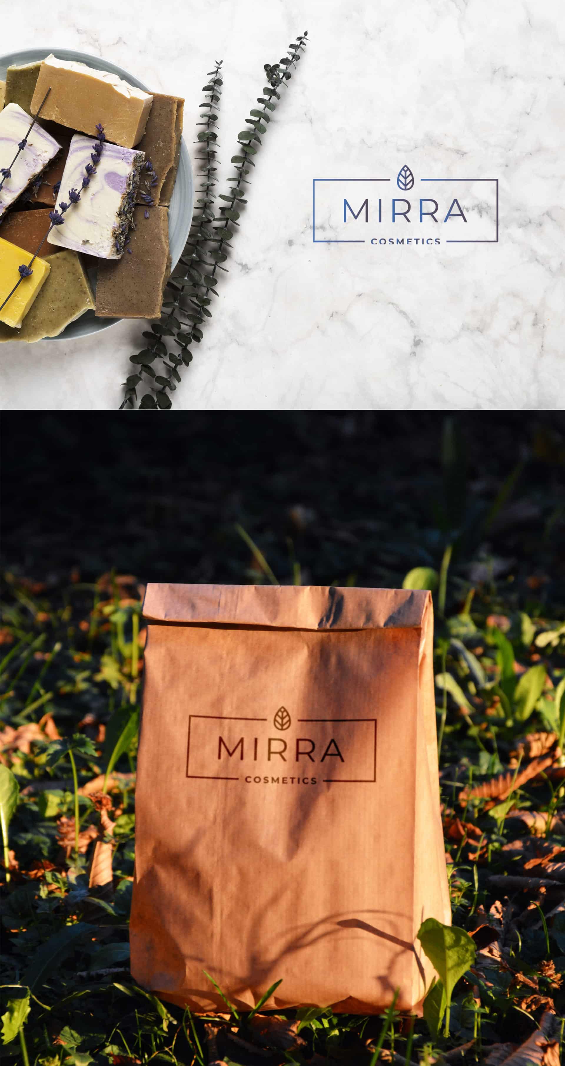 "Логотип косметической компании ""Mirra Cosmetics"" 2"