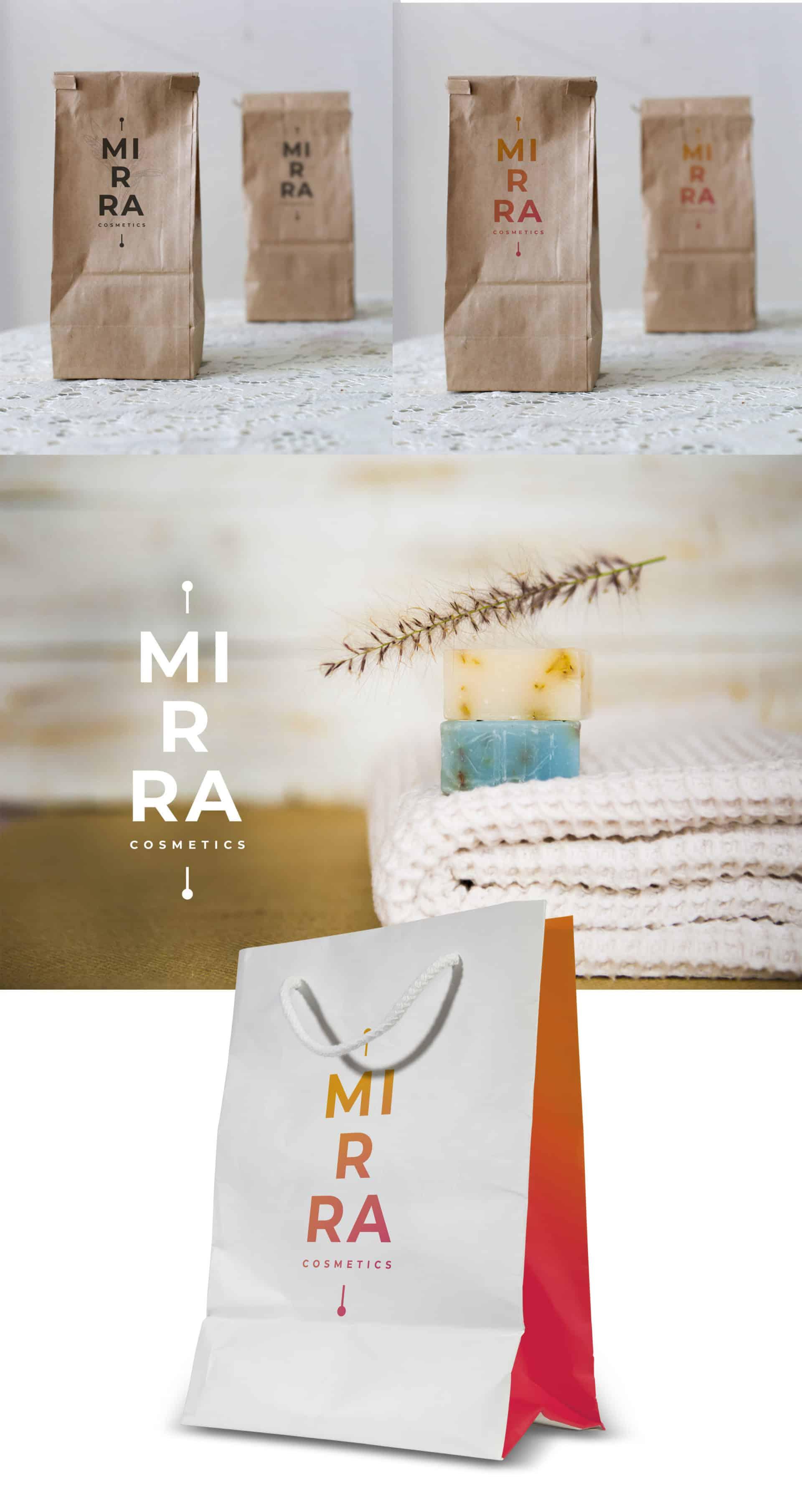 "Логотип косметической компании ""Mirra Cosmetics"" 4"
