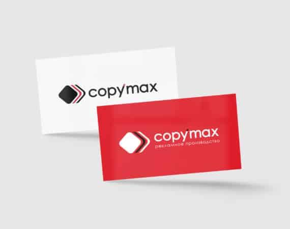 визуализация логотипа на визитке