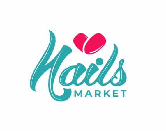 логотип интернет магазина nails 4