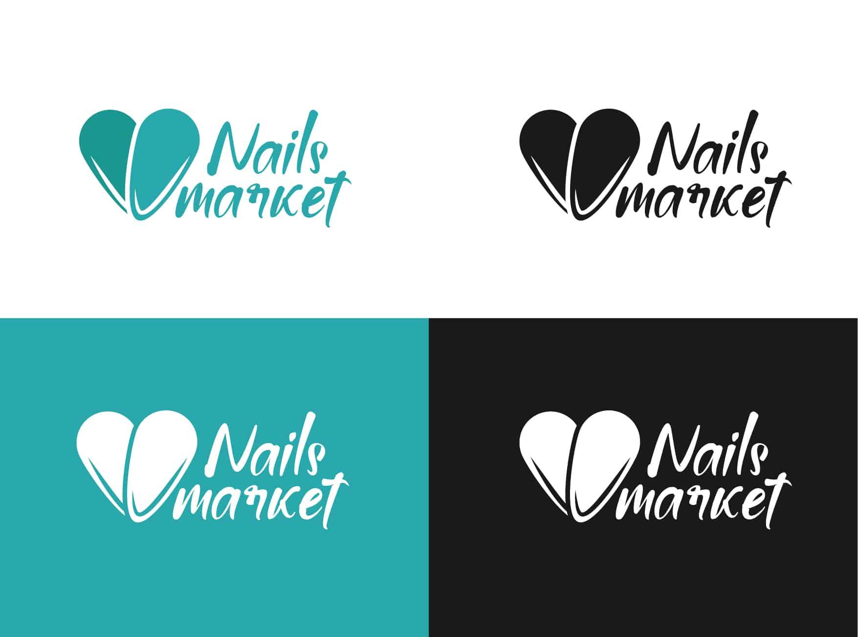 разработка логотипа для ногтевого сервиса