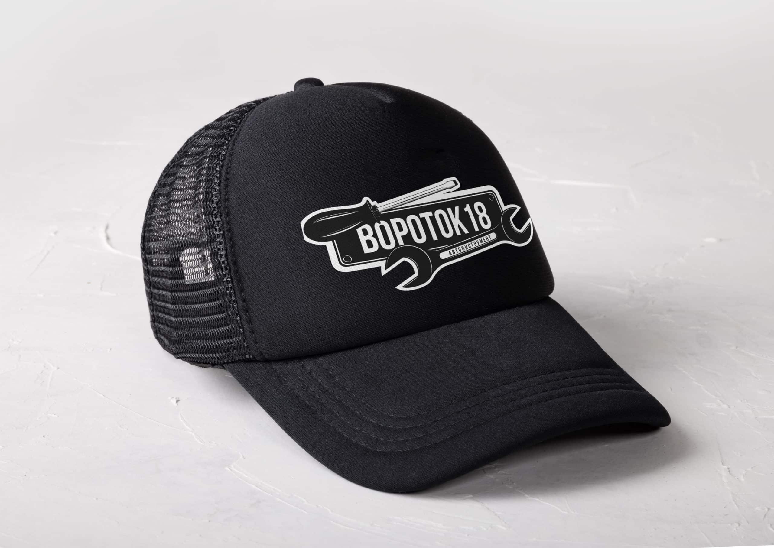 визуализация логотипа на кепке